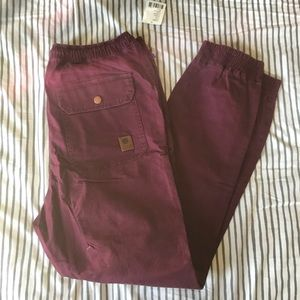 without walls maroon joggers - urban outfitters